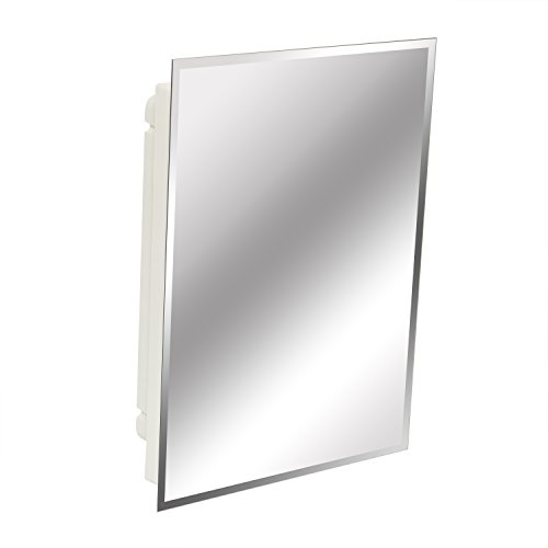 American Pride 9622WBAR12 Recessed Frameless Beveled Polished Edge Mirror Medicine Cabinet, 16 x 22