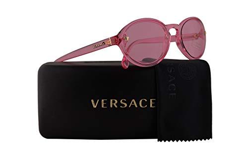 Versace Pink Lens - Versace VE4352 Sunglasses Transparent Pink w/Pink Lens 54mm 52785 VE 4352