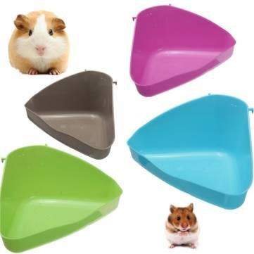 4 Color Hamster Corner Toilet Litter Tray Mouse Rat Rabbit Guinea ...