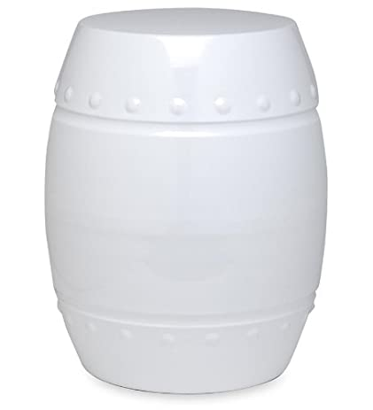 Colorful Metal Outdoor Drum Stool  in White  sc 1 st  Amazon.com & Amazon.com : Colorful Metal Outdoor Drum Stool in White : Garden ... islam-shia.org