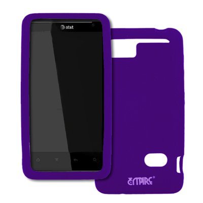 EMPIRE AT&T HTC Holiday Purple Silicone Skin Case Tasche Hülle Cover + Displayschutzfolie Film + Auto Charger (CLA)