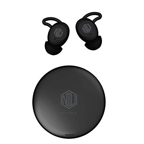 LD Nu Republic Jaxxbuds 3 Sports True Wireless Earbuds Bluetooth 5 0 Up to 20hrs Play Time Sweat Resistant Voice Assistant with Mic Black