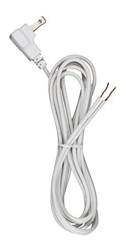 8 Ft. Flat Plug Cord Set 18/2 Spt-2-105-#176;C, White
