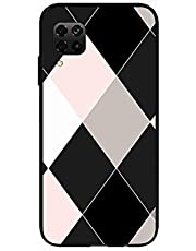 Okteq Clear TPU Protection and Hybrid Rigid Clear Back Cover Compatible with Huawei Nova 7i - carohat white black