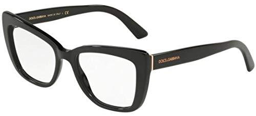 Dolce Gabbana DG3308 Black/Clear Lens ()