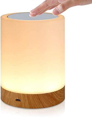 SZSMD Lednachtlampje dimbaar nachtlampje draagbare slaapkamer tafellamp oplaadbaar kleurrijk licht met instelbaar 3 warm licht voor kinderen baby slaapkamer kantoor en camping