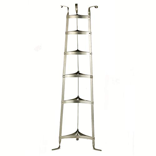 Cast Iron Cookware Stand - Old Dutch 60-Inch Cookware Stand, Satin Nickel