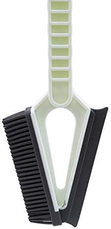 掃除用品 2PCS 2イン1双頭家庭用クリーニングブラシ、クリーニングのギャップ窓ガラスブラシワイパーのクリーニングツールシャワースキージ 家庭用 (Color : White, Size : 27x13.3cm)