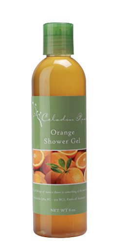 Celadon Road Orange Shower Gel - Organic Ingredients and Essential Oils - Sulfate and Paraben Free - Best All Natural Shower Gel - 8 oz - Made in USA