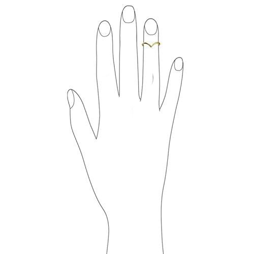 Bling Jewelry Chapado en oro 925plata doble fila cable trenzado anillo de Midi