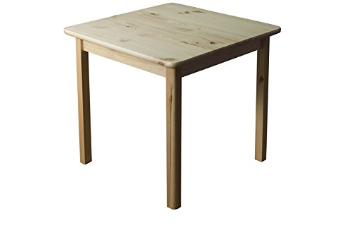 Table solid, natural pine wood 002 - Dimensions 75 x 60 x 60 cm (H x B x T)