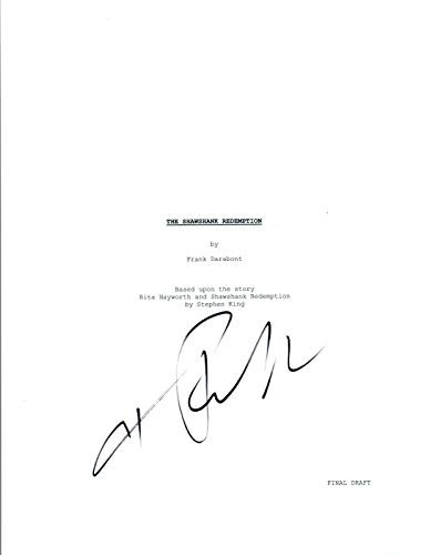 Tim Robbins Signed Autographed THE SHAWSHANK REDEMPTION Movie Script COA