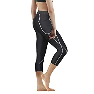 Women Neoprene Sauna Slimming Pants Hot Thermo Sweat Body Shaper Capri for Weight Loss Burning Fat