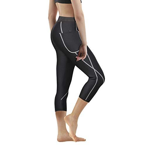 c98c6a95dc420 Women Neoprene Sauna Slimming Pants Hot Thermo Sweat Body Shaper Capri for Weight  Loss Burning Fat (Black