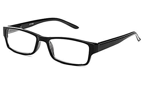 Newbee Fashion - Unisex Two Tone Sleek Spring Temple Fashion Clear Lens - Lens Clear Fashion Glasses Mens