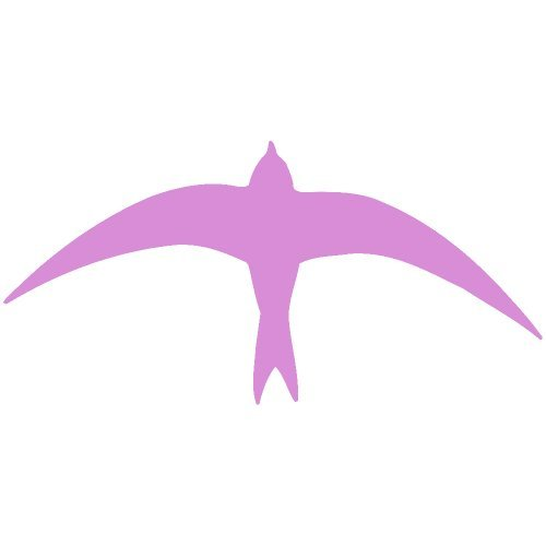 Dove Decal Set - Set of 3 - Dove Bird Decal Sticker Color: Pink- Peel and Stick Vinyl Sticker