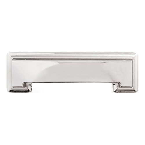 Hickory Hardware P3013-14 Studio collection Pull, 3 Inch and 3-3/4 Inch (96mm) Center to Center, Polished Nickel (Mm 96 Pull Traditional)