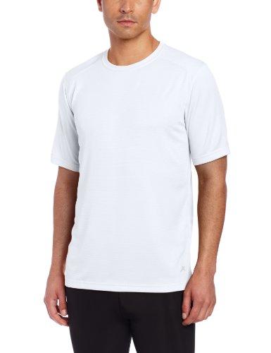 Terramar Long Underwear Top - Terramar Men's Helix Short Sleeve Tee (X-Large, White)