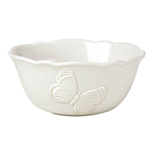 (Lenox Butterfly Meadow Carved Vanilla Fruit Bowl)