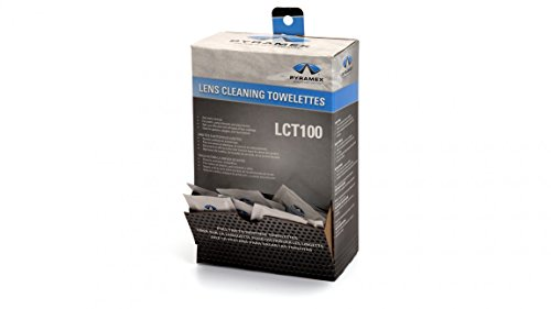 Pyramex Individually Packaged Lens Cleaning Towelettes  100 Pack  8 x 5 Size  No Streaks