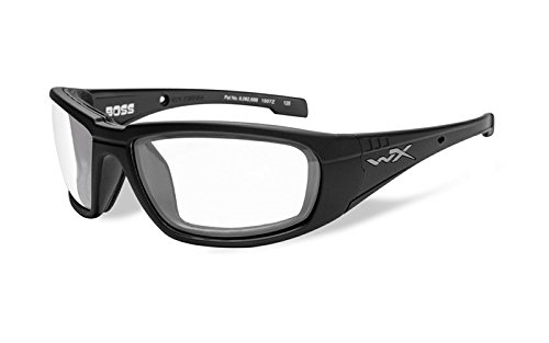 Wiley Lenses Prescription X (Wiley X WX Boss Glasses Clear Lens Gloss Black Frame)
