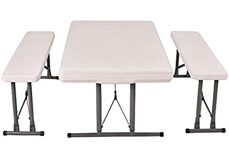 Ku0026A Company Outdoor Picnic Folding Table Kids Picnic Outdoor Furniture Set Folding  Children Bench Play Plastic