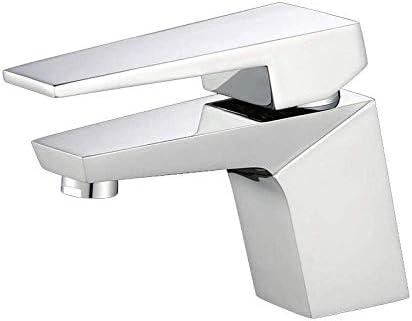 WXQ-XQ バスルームのシンクは、スロット付き浴室の洗面台のシンクホットコールドタップミキサー盆地の下でカウンター盆地の蛇口洗面台のフル銅ホワイトホットとコールド単機能バルコニー洗面スクエア蛇口をタップ