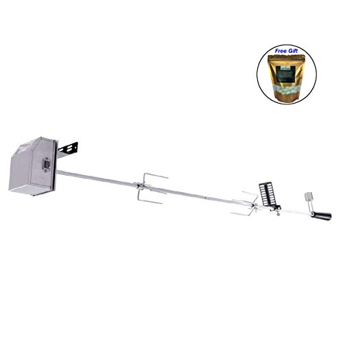 COSTWAY Universal Rotisserie Kit Heavy Duty for Most Burner Grills 47