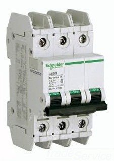 SCHNEIDER ELECTRIC 60183 Miniature Circuit Breaker 240-Vo...
