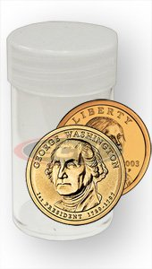 100 Sacagawea/Susan B/Presidential Dollar Coin Collecting Tubes - Round by BCW ()