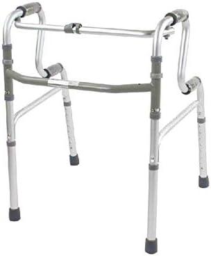 ZXCMNB Crutches Walker, Leichtes Zusammenklappbares Gehgestell, Verstellbare Vierbeinige Aluminiumlegierung, Zubehör for Die Rehabilitation Von Behinderten, Krücke