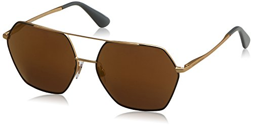 Dolce & Gabbana Women's Metal Woman Square Sunglasses, Gold, 59.22 - Dolce Gabbana Womens And Suits