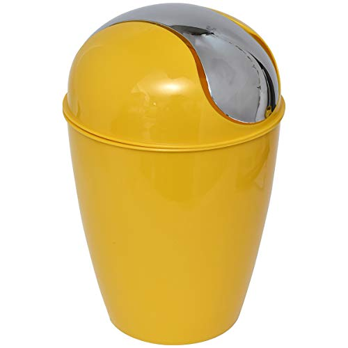 EVIDECO 6518196 Round Bath Floor Trash Can Waste Bin 4.5-liters/1.2-gal -Sunshine, 8.27