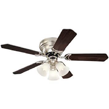 42 ceiling fan light westinghouse 7861500 contempra trio threelight 42inch fiveblade ceiling fan brushed nickel with frosted glass shades fan