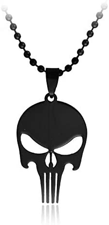 Necklaces & Pendants Fashion Movie The Punisher Necklace Simple Stainless Steel Superhero Skull Head Pendants Necklaces for Men Friends Best Gift | Amazon.com