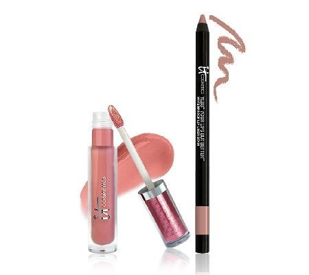 It Cosmetics YLBB Your Lips But Better Waterproof Lip Liner Stain, Romantic Rose, .01 oz by It Cosmetics by It Cosmetics
