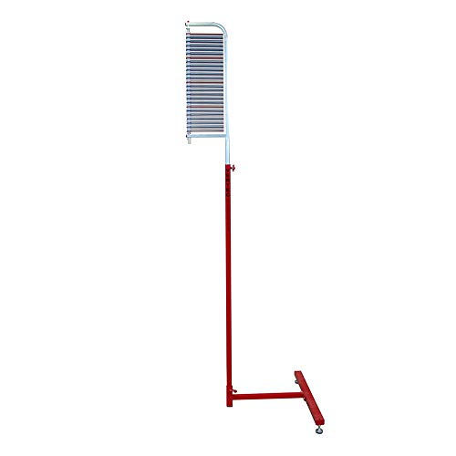 Jump USA Vertec, Stand-Alone 6 to 12 Foot Vertical Jump Tester, Red/Silver (22550) (Best Exercises To Increase Vertical Jump)