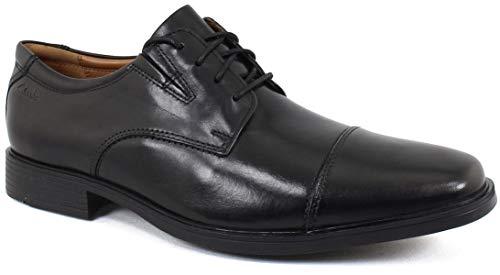 (Clarks Men's Tilden Cap Oxford Shoe,Black Leather,10 M US)
