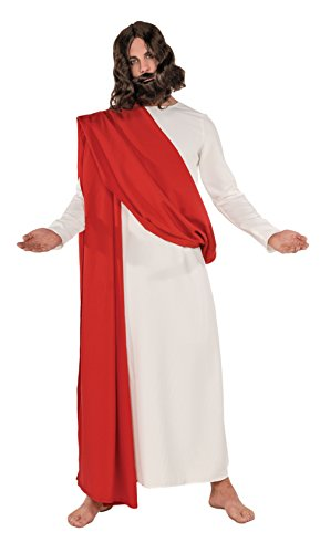 Underwraps Men's Jesus, White/Red, One Size