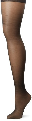 Hanes Silk Reflections Women's Plus-Size Enhanced Toe Pantyhose, Jet, - Jet Nude Black
