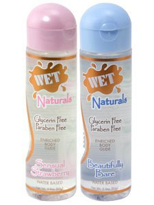 Wet Naturals Glycerin & Paraben Free Waterbased Personal Lubricant - 3.3 oz Beautifully Bare