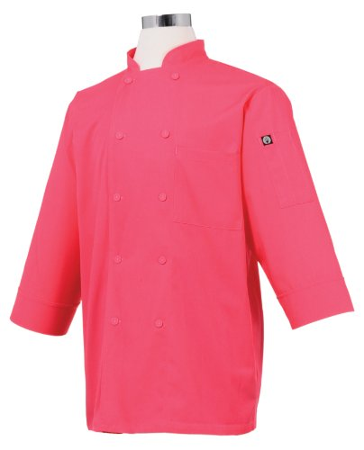 Chef Works JLCL-BER-XS Basic 3/4 Sleeve Chef Coat, Berry, XS by Chef Works