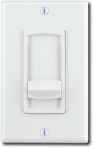 Moderno - In-Wall Speaker Volume Slider Control - White/Light Almond -