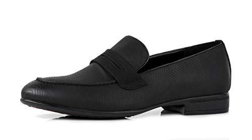 Zapatos Oficina Diseñador Negro para Jas Casual sin Boda Cordones Formal Vestido Estilo GB Casual Hombres BcqXf