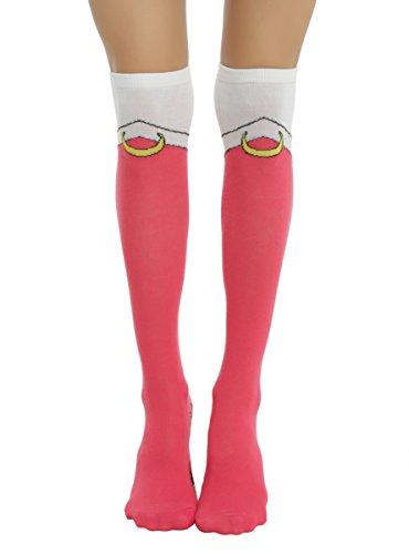 [Sailor Moon Sailor Chibi Moon Pink Costume Knee Socks] (Chibi Moon Costume)