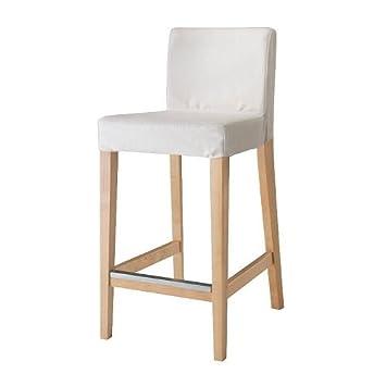 Agreable 【IKEA/イケア】HENRIKSDAL バースツール 背もたれフレーム付, バーチ