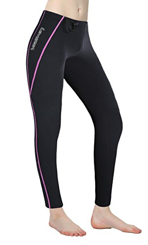 Lemorecn Women Wetsuits Pants 1.5mm Neoprene Winter Swimming Canoeing Pants(Purple,12)