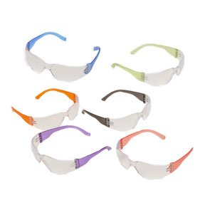 Safety Glasses Intruder Multi Color Clear Lens 12/box, Outdoor Stuffs