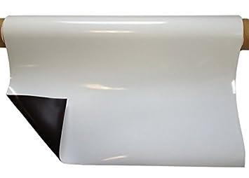 Magnetfolie weiß glänzend 0,8mm x 31cm x  50cm