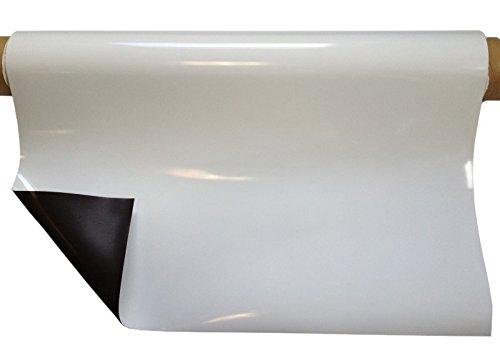 Foglio magnetico permanente, bianco lucido, 0,8mm x 1m x 1m - stampabile con stampa digitale, applicabile a tutti superfici metalliche Magnosphere